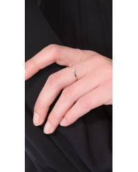 Gabriela Artigas - White Double Diamond Ring - Lyst