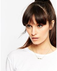 ASOS | Metallic Gold Plated Sterling Silver Fine Arrow Necklace | Lyst