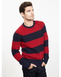 Banana Republic | Blue Heritage Bold-stripe Crew Pullover for Men | Lyst
