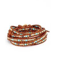 Chan Luu | Blue Leather Wrap Bracelet | Lyst