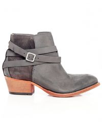 H by Hudson - Gray Horrigan Mix Boots - Lyst