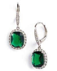 Nina - Green Stone Drop Earrings - True Emerald - Lyst