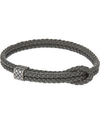 Bottega Veneta | Gray Adjustable Double Thin Strap Bracelet | Lyst