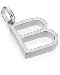 Monica Vinader | Metallic Silver Alphabet Pendant B | Lyst