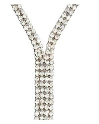 H&M | Metallic Necklace With Sparkly Stones | Lyst