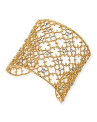 Alexis Bittar | Metallic Gilded Muse Dore Crystal-Studded Cuff Bracelet | Lyst