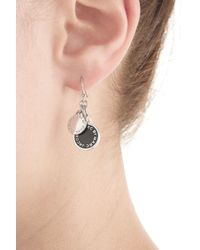 Marc By Marc Jacobs | Metallic Logo Charm Earrings - Black | Lyst