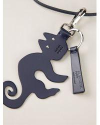 Jil Sander Navy | Blue Cat Pendant Necklace | Lyst