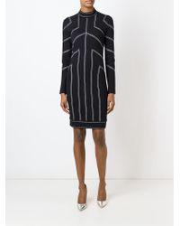 Love Moschino - Black Stitch Detailing Dress - Lyst