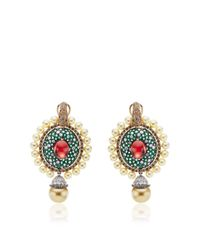 Abellan New York | Green One Of A Kind Sultan's Treasure Pendant Earrings | Lyst