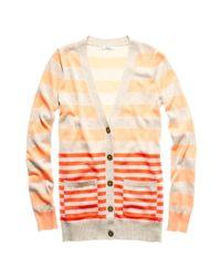 Madewell - Orange Stripecast Cardigan - Lyst