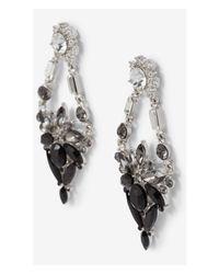 Express | Black Mixed Rhinestone Chandelier Earrings | Lyst