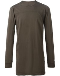 DRKSHDW by Rick Owens - Brown Round Neck T-shirt for Men - Lyst