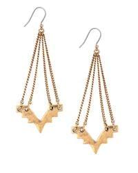 Lucky Brand   Metallic Geo Chandelier Drop Earrings, Goldtone   Lyst