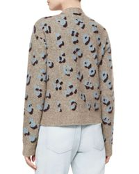3.1 Phillip Lim - Natural Long-sleeve Animal-print Pullover Top - Lyst