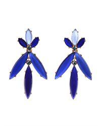 Oscar de la Renta | Blue Marquise Stone Resin Earring | Lyst