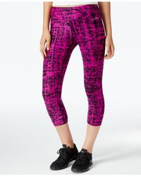 Calvin Klein | Purple Performance Printed Cropped Leggings | Lyst