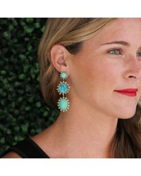 Irene Neuwirth - Blue Carved Turquoise Earrings - Lyst