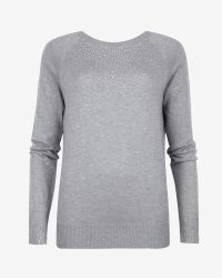 Ted Baker | Gray Crystal Stud Sweater | Lyst