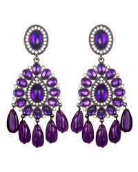 Kenneth Jay Lane | Purple Chandelier Earrings | Lyst