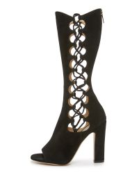 Tamara Mellon - Black Dolly Suede Boots - Lyst