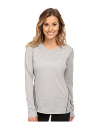 New Balance | Gray Heathered L/S Top | Lyst
