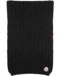 Moncler | Black Knit Scarf | Lyst