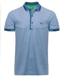 BOSS Green | Blue Slim Fit Paule4 Polo Shirt for Men | Lyst