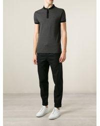 Saint Laurent | Black Band Collar Polo Shirt for Men | Lyst