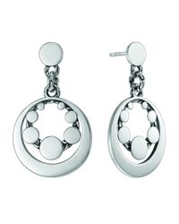 John Hardy | Metallic Dot Deco Silver Round Drop Earrings | Lyst