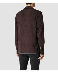 AllSaints | Purple Courthauld Shirt for Men | Lyst