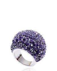 Swarovski | Purple Silver-Tone & Amethyst Ring Size 7 | Lyst