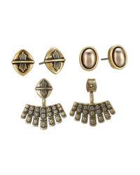 Lucky Brand - Metallic Jacket Earrings - Lyst