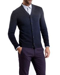 Ted Baker - Gray Conveks Sprayed Ombre Cardigan for Men - Lyst