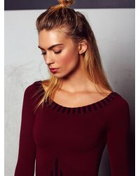 Free People - Purple Classic Off The Shoulder Seamless Top - Lyst
