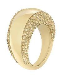Swarovski | Metallic Pebble Ring | Lyst