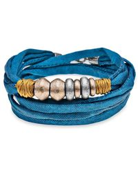 Platadepalo | Trend Blue Bracelet Gold & Silver Resin | Lyst