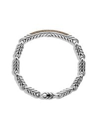 David Yurman - Brown Chevron Id Bracelet for Men - Lyst