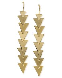 Robert Lee Morris | Metallic Gold-tone Layered Triangle Drop Earrings | Lyst