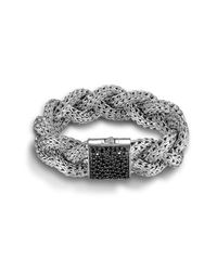 John Hardy | Black Large Braided Bracelet | Lyst