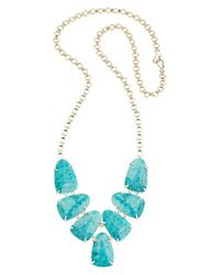 Kendra Scott | Blue Harlie Necklace | Lyst