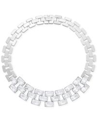 Swarovski | Metallic Stainless Steel Crystal Link Necklace for Men | Lyst