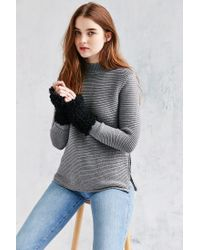 Urban Outfitters - Black Poodle Fingerless Glove - Lyst