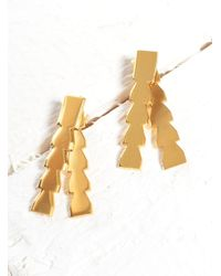 Lily Kamper - Metallic Midas Gold Pillar Earrings- Last Pair - Lyst