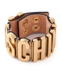 Moschino | Metallic Logo Plaque Cuff | Lyst