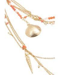 Rosantica - Metallic La Sabbia Gold-tone, Agate And Quartz Necklace - Lyst