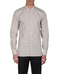 Mauro Grifoni - Natural Long Sleeve Shirt for Men - Lyst