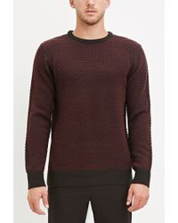 Forever 21 | Purple Popcorn Knit Sweater for Men | Lyst
