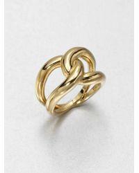 Michael Kors | Metallic Twist Ring | Lyst