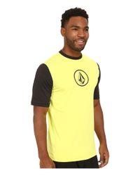 Volcom   Black Heather Short Sleeve Top for Men   Lyst